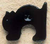 43060 - Arched Black Cat - 1in x 1in